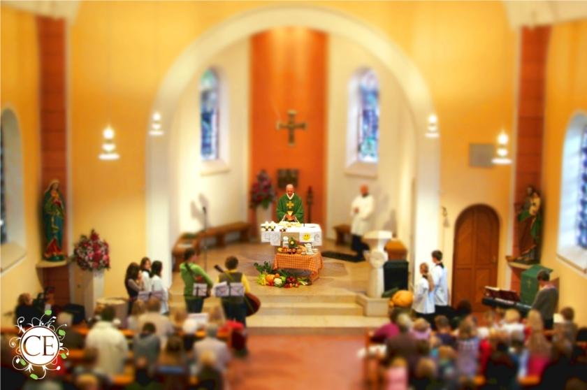 Messe im Miniaturstil